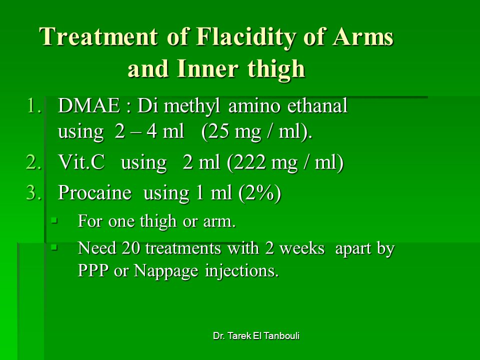 Treatment of Flacidity of Arms and Inner thigh