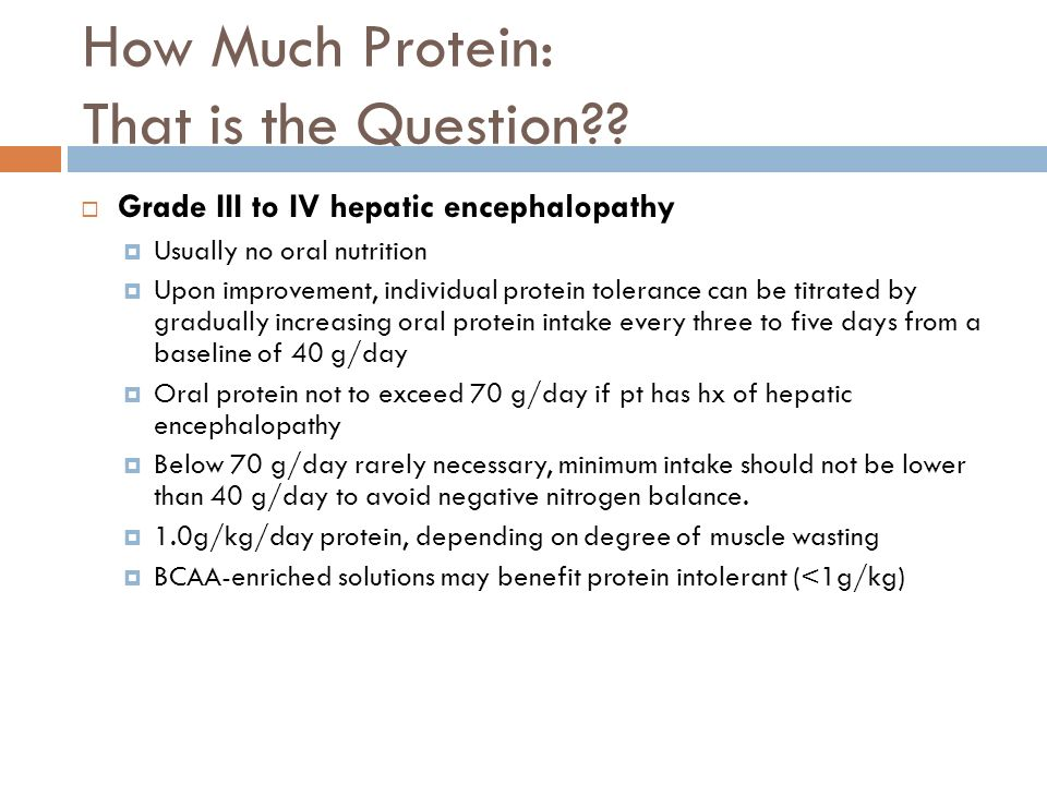 How Much Protein: That is the Question