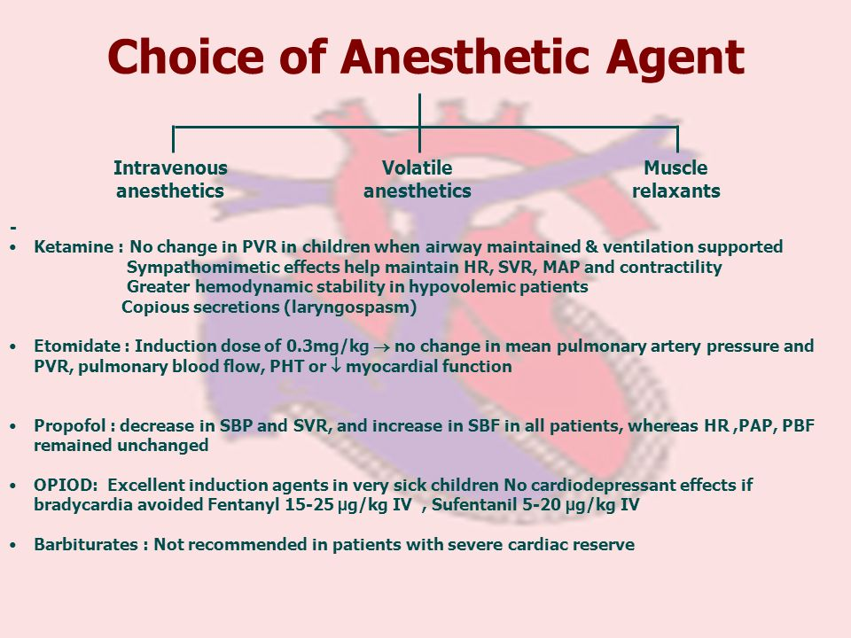 Choice of Anesthetic Agent