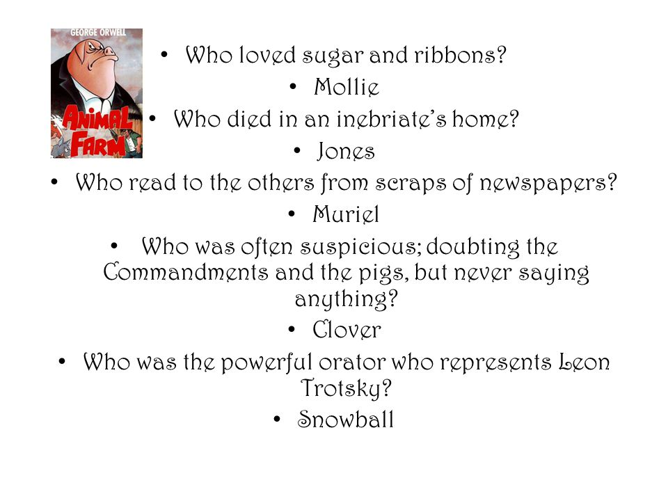 who does mollie represent in animal farm