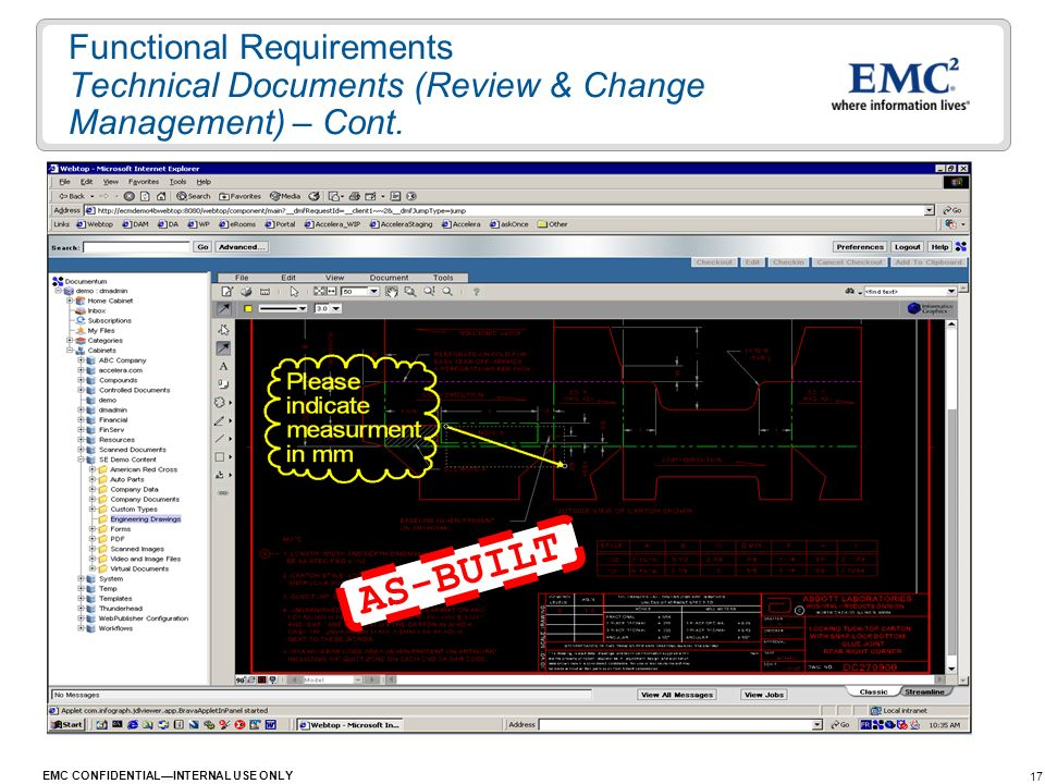Functional Requirements Technical Documents (Review & Change Management) – Cont.