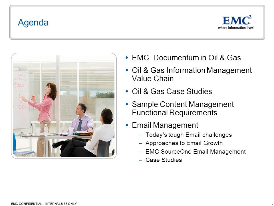 Agenda EMC Documentum in Oil & Gas