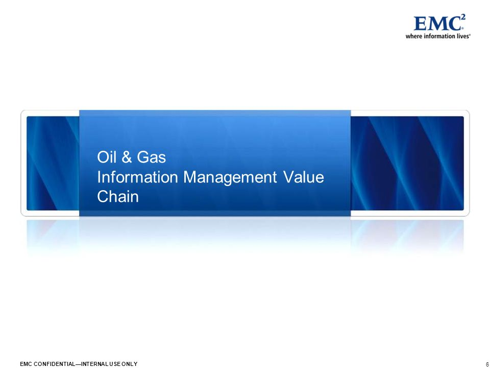 Oil & Gas Information Management Value Chain