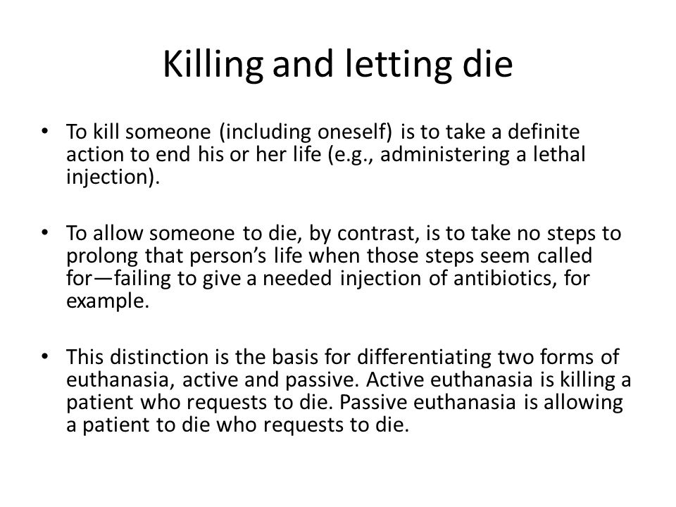 rachels active and passive euthanasia summary