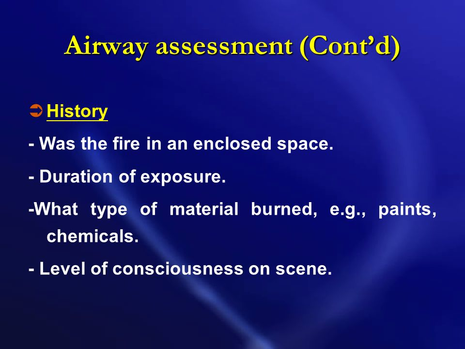 Airway assessment (Cont'd)