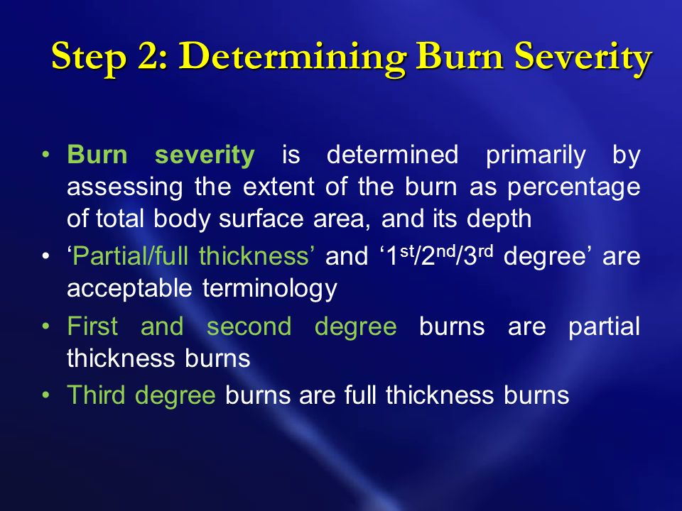 Step 2: Determining Burn Severity