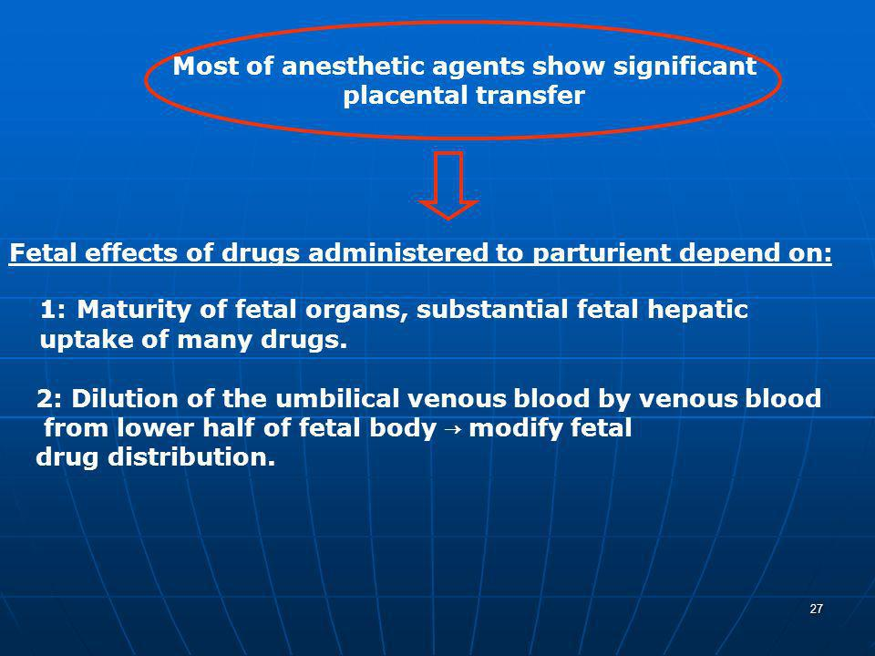Most of anesthetic agents show significant
