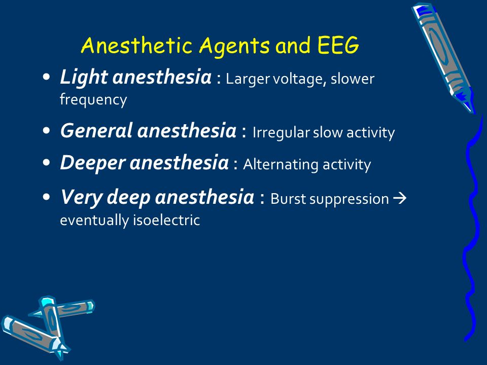 Anesthetic Agents and EEG