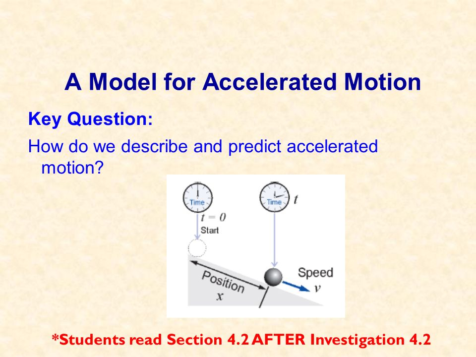 A Model for Accelerated Motion