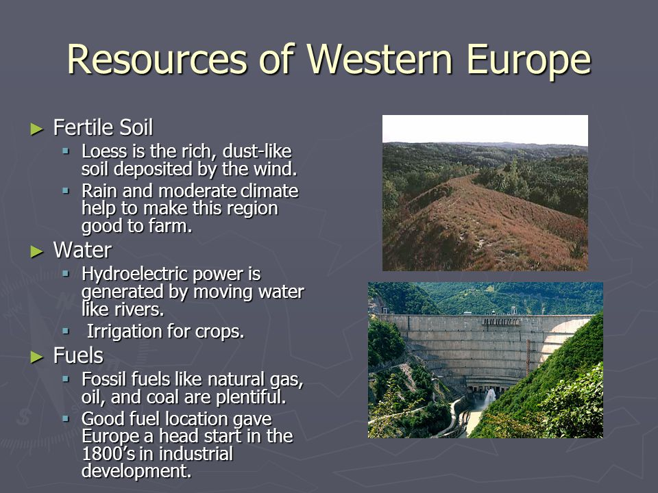 Resources of Western Europe