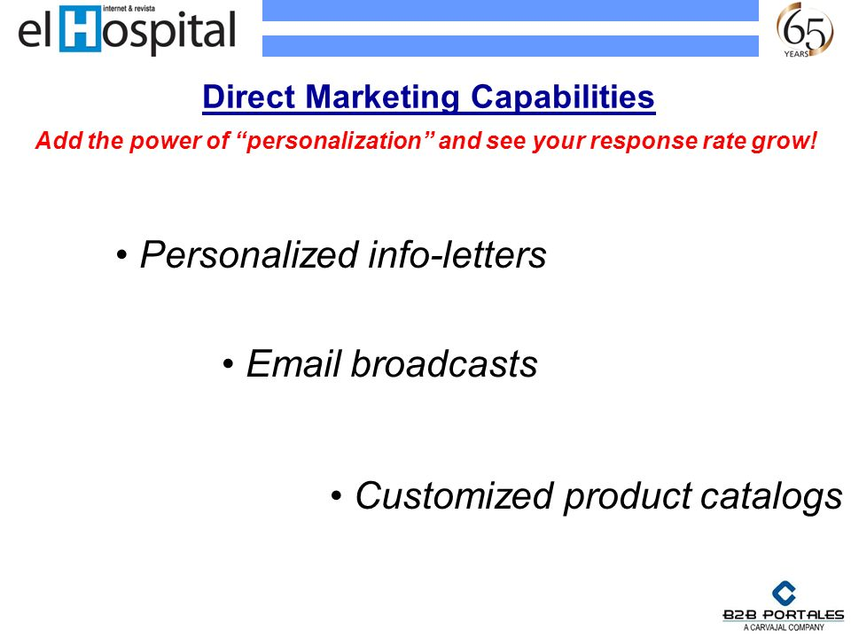Direct Marketing Capabilities