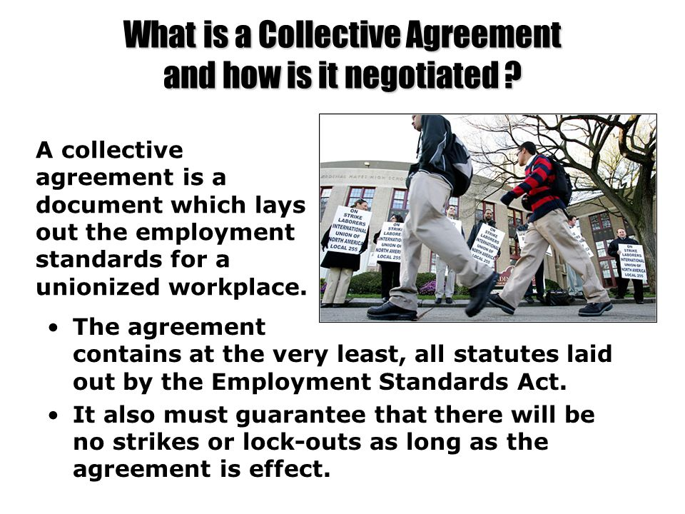 What is a Collective Agreement and how is it negotiated