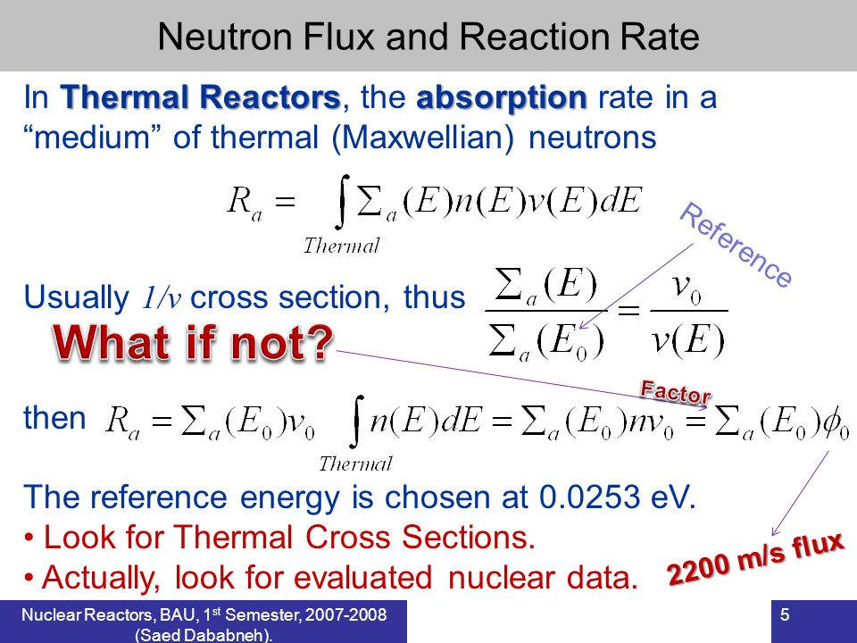 What if not Neutron Flux and Reaction Rate