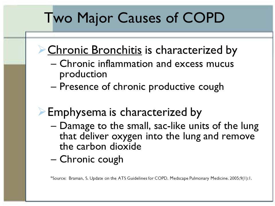 COPD Chronic Obstructive Lung Disease - ppt download