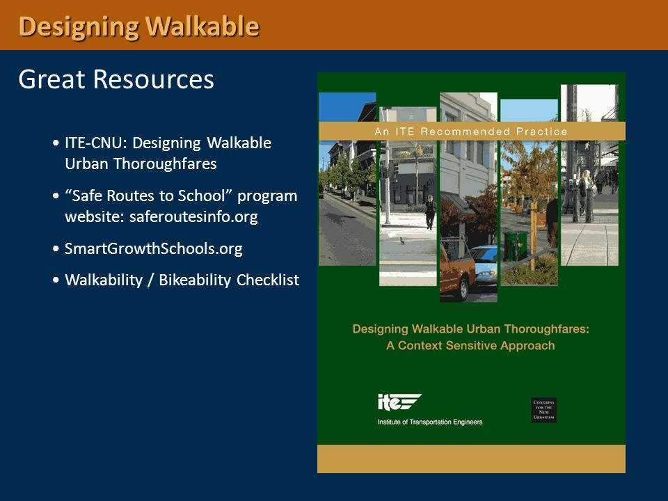 Designing Walkable Great Resources