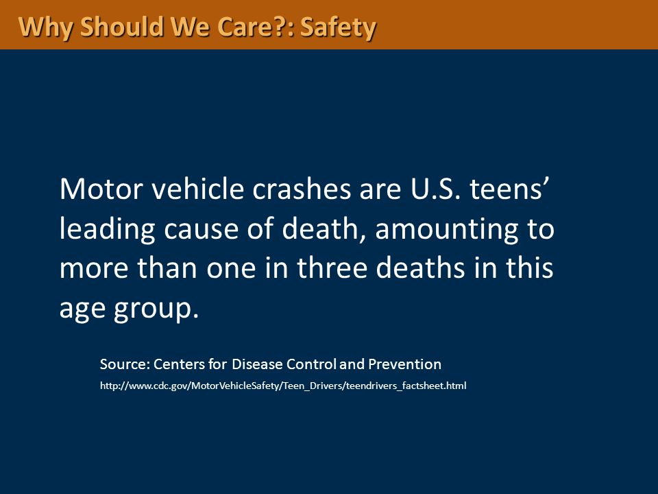 Why Should We Care : Safety