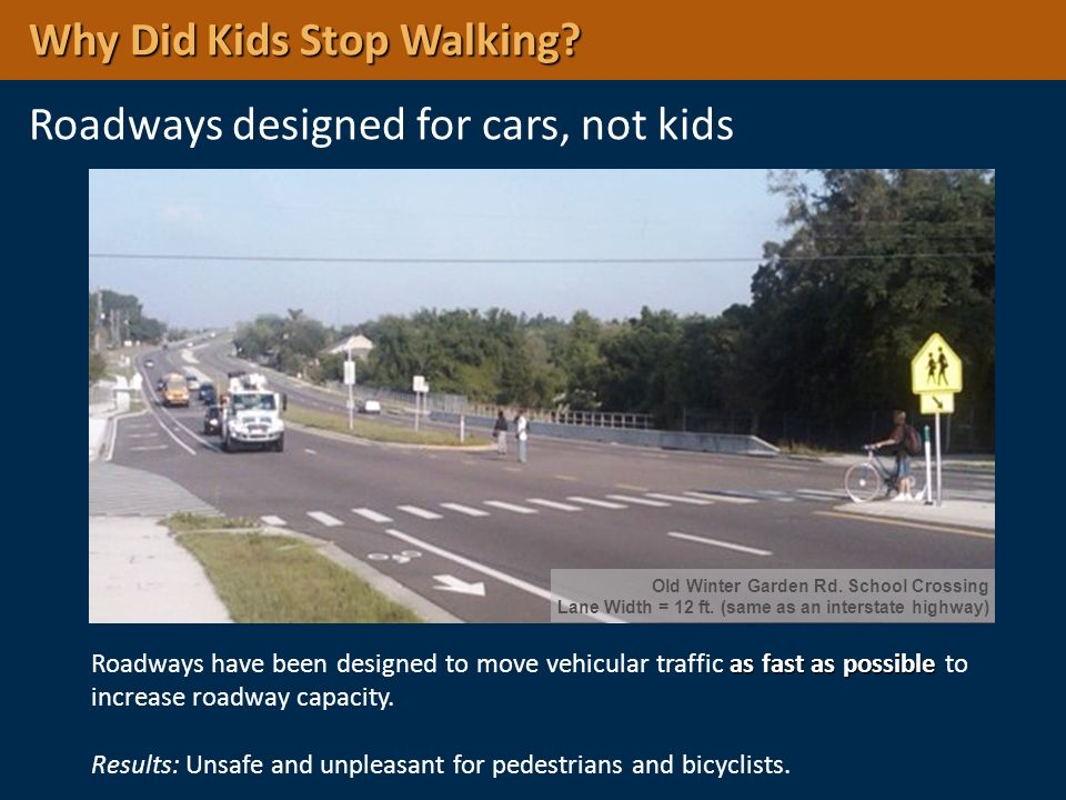 Why Did Kids Stop Walking Roadways designed for cars, not kids