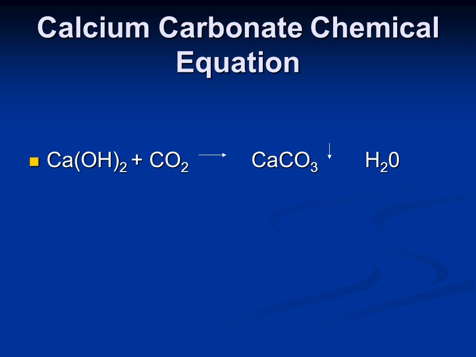 Calcium Carbonate Chemical Equation
