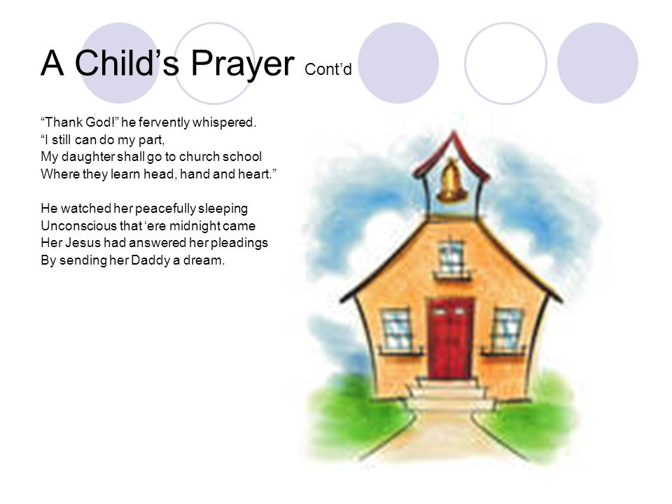 A Child's Prayer Cont'd