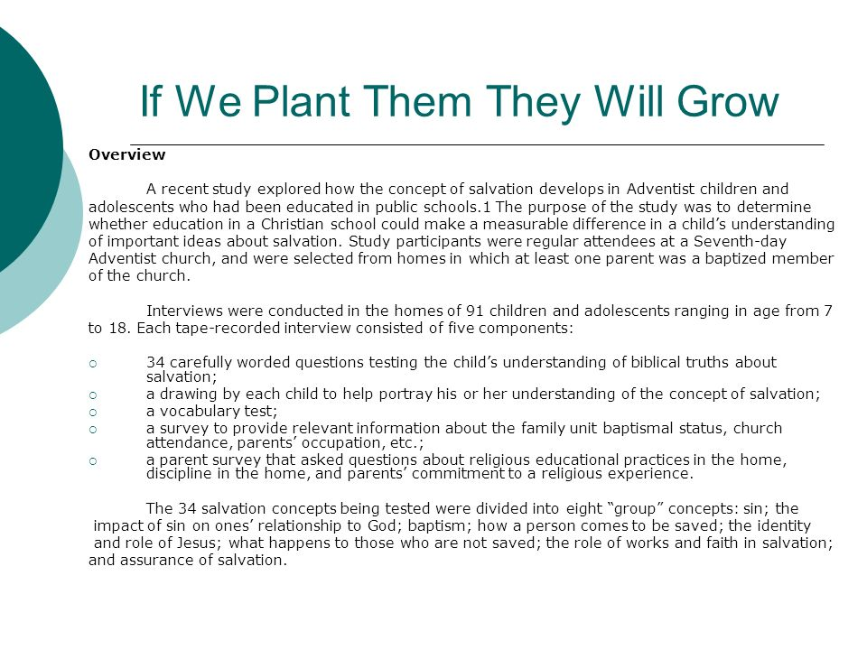 If We Plant Them They Will Grow