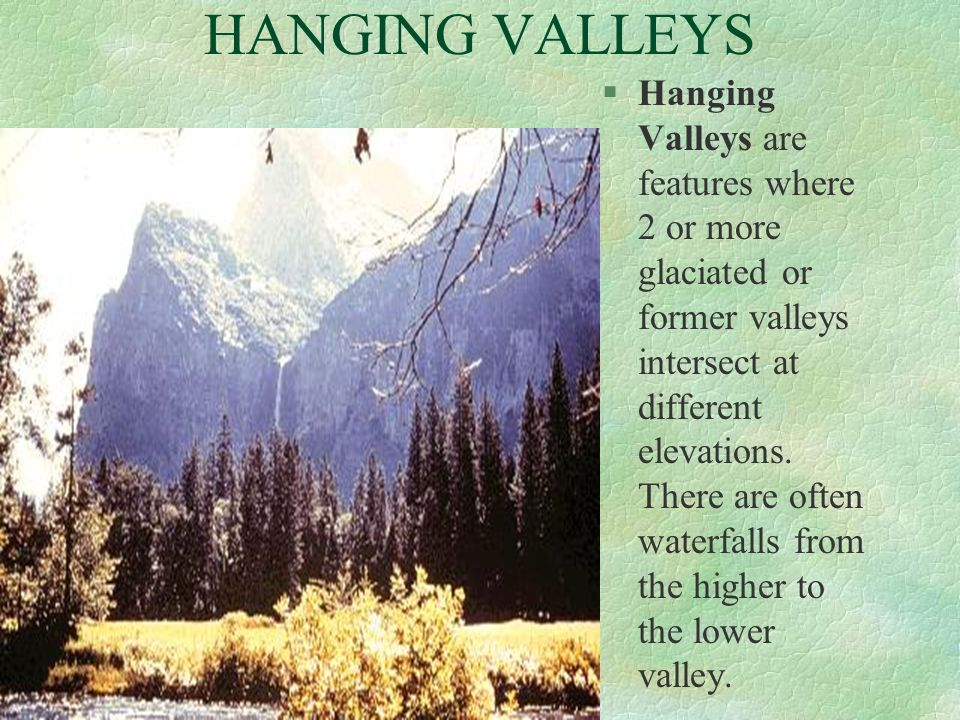 HANGING VALLEYS