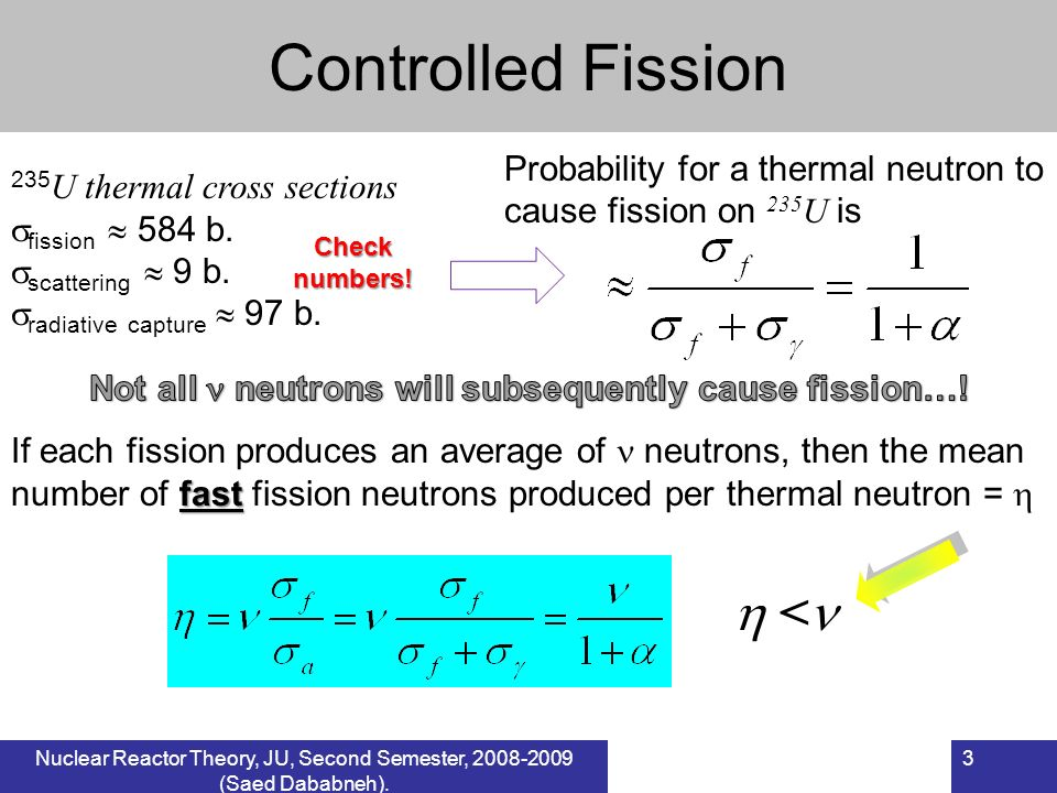 Not all  neutrons will subsequently cause fission…!