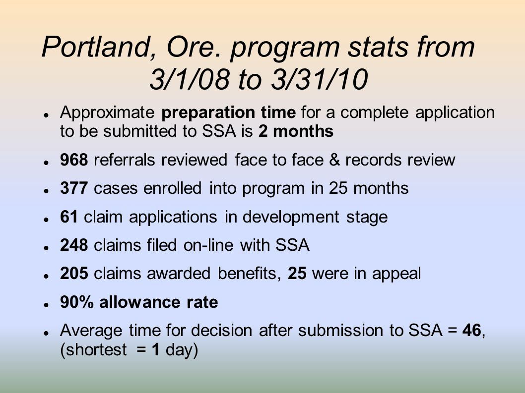 Portland, Ore. program stats from 3/1/08 to 3/31/10