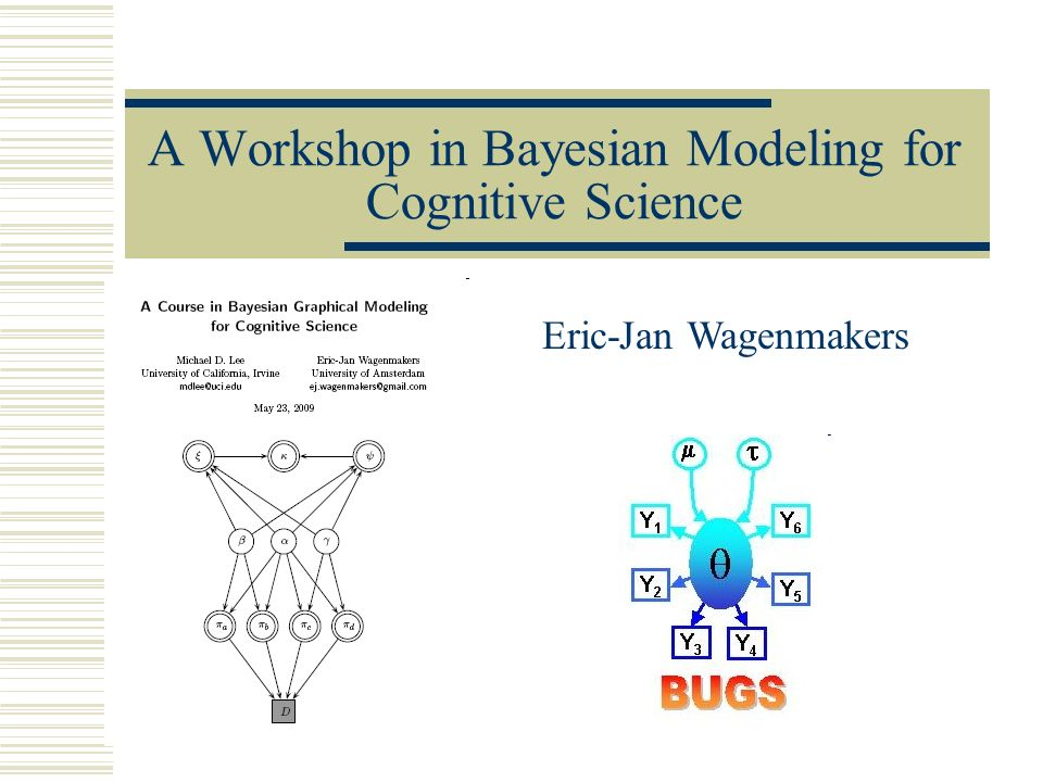 A Workshop in Bayesian Modeling for Cognitive Science
