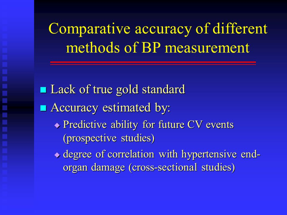 Comparative accuracy of different methods of BP measurement