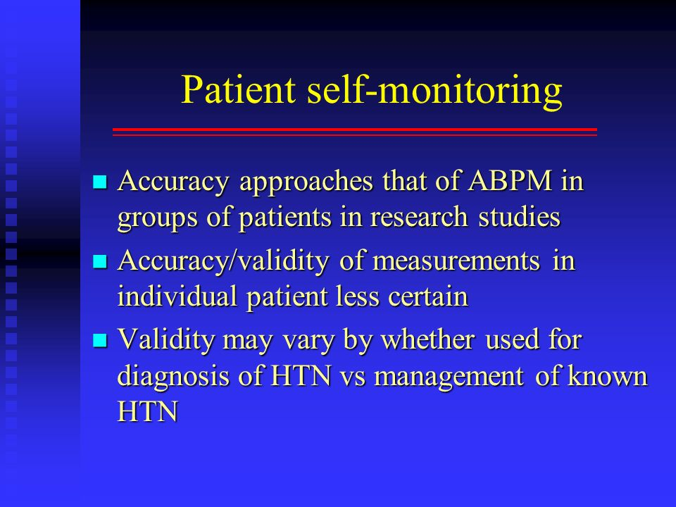 Patient self-monitoring