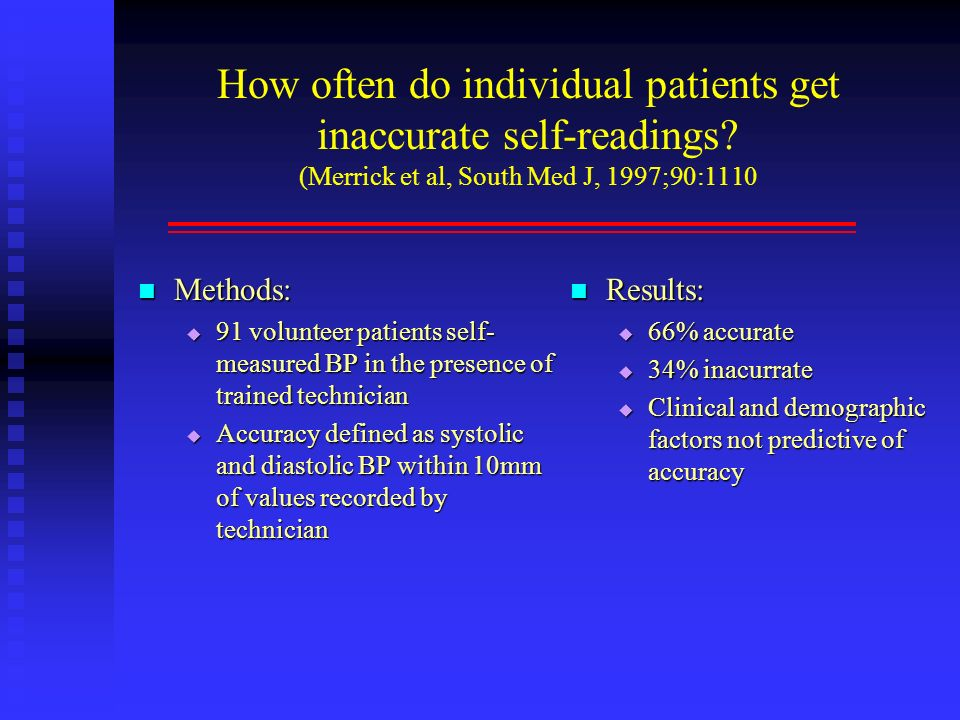 How often do individual patients get inaccurate self-readings