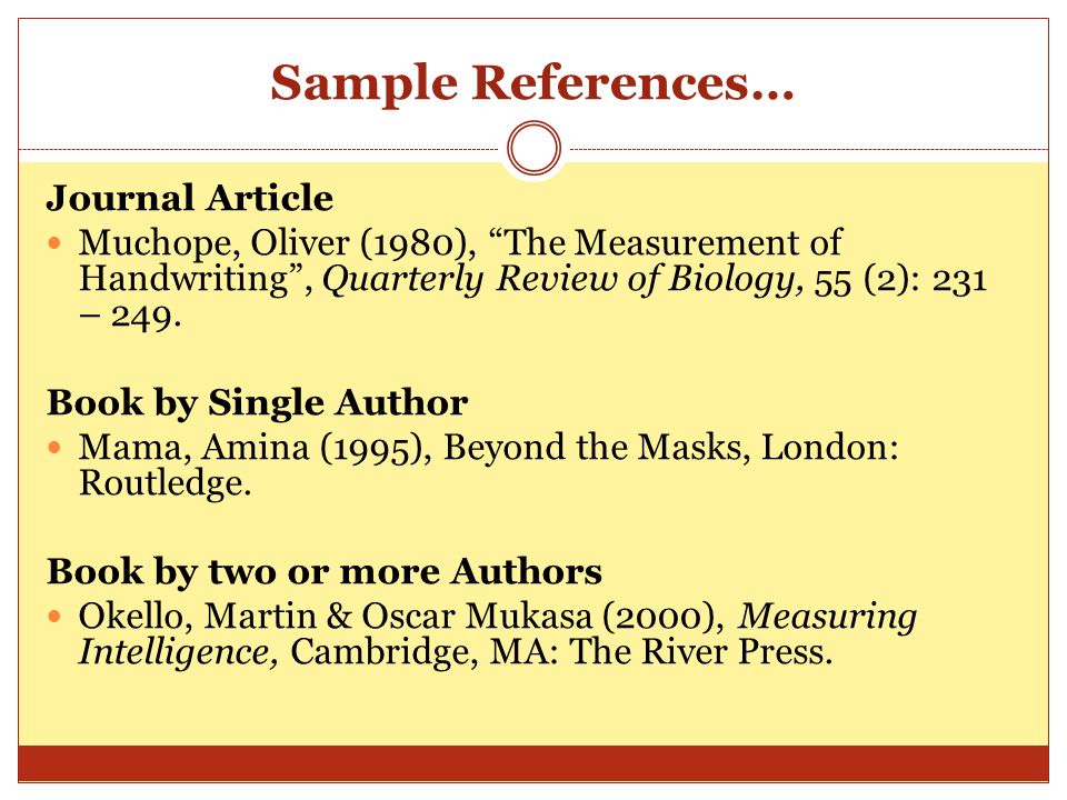 Sample References… Journal Article