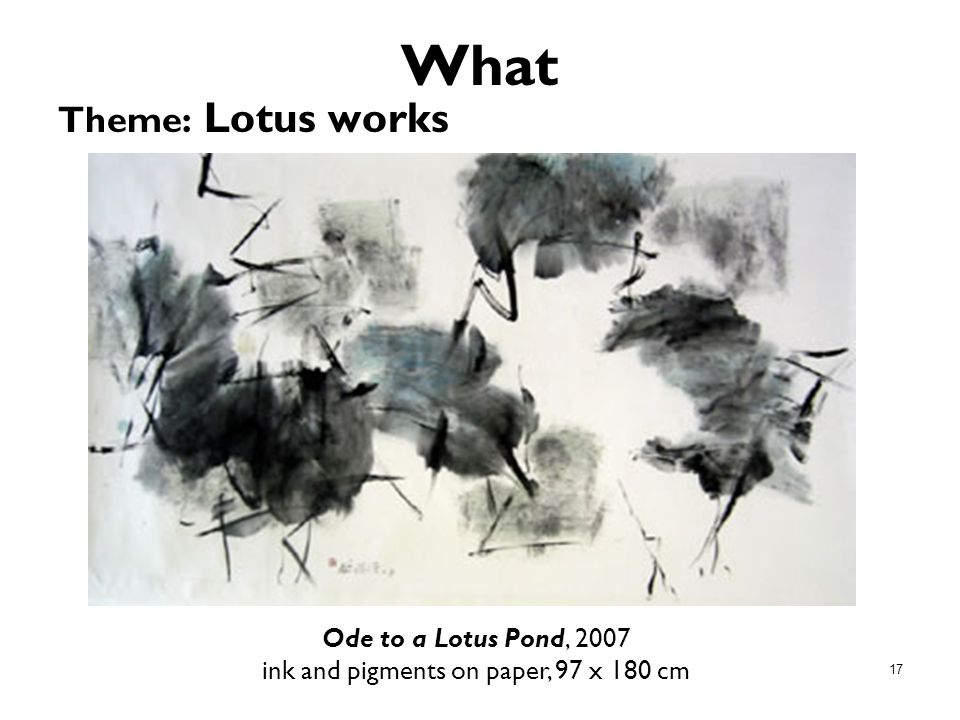 Ode to a Lotus Pond, 2007 ink and pigments on paper, 97 x 180 cm