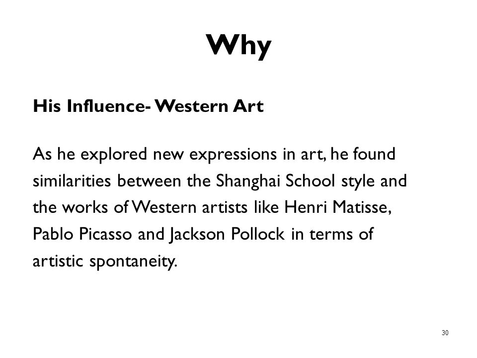 Why His Influence- Western Art