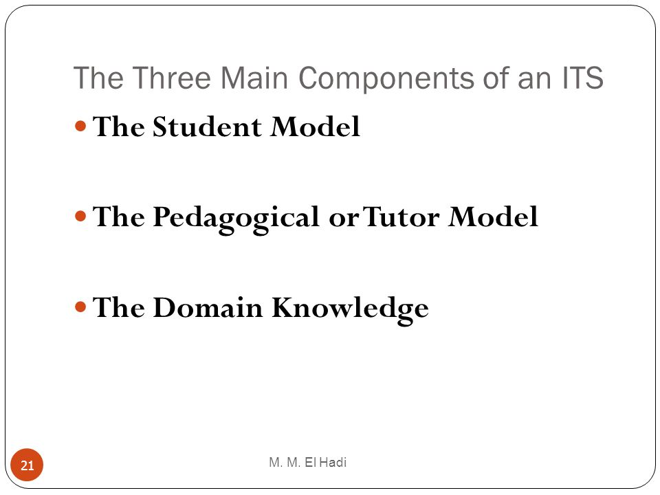 The Three Main Components of an ITS