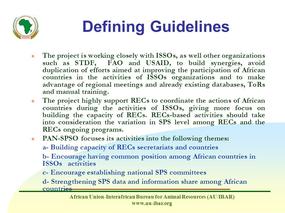 Defining Guidelines