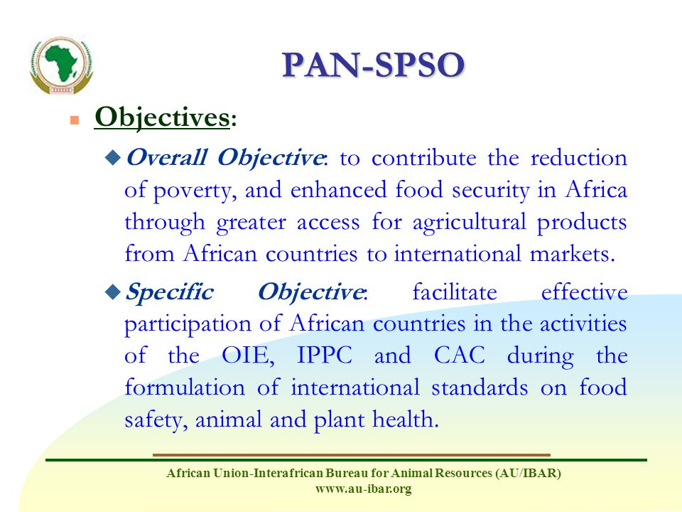 PAN-SPSO Objectives: