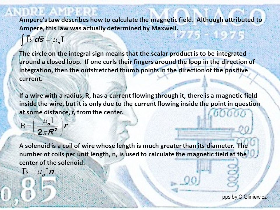 Ampere's Law describes how to calculate the magnetic field
