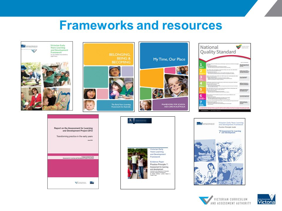 Frameworks and resources