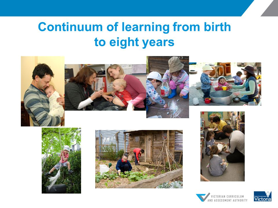 Continuum of learning from birth to eight years