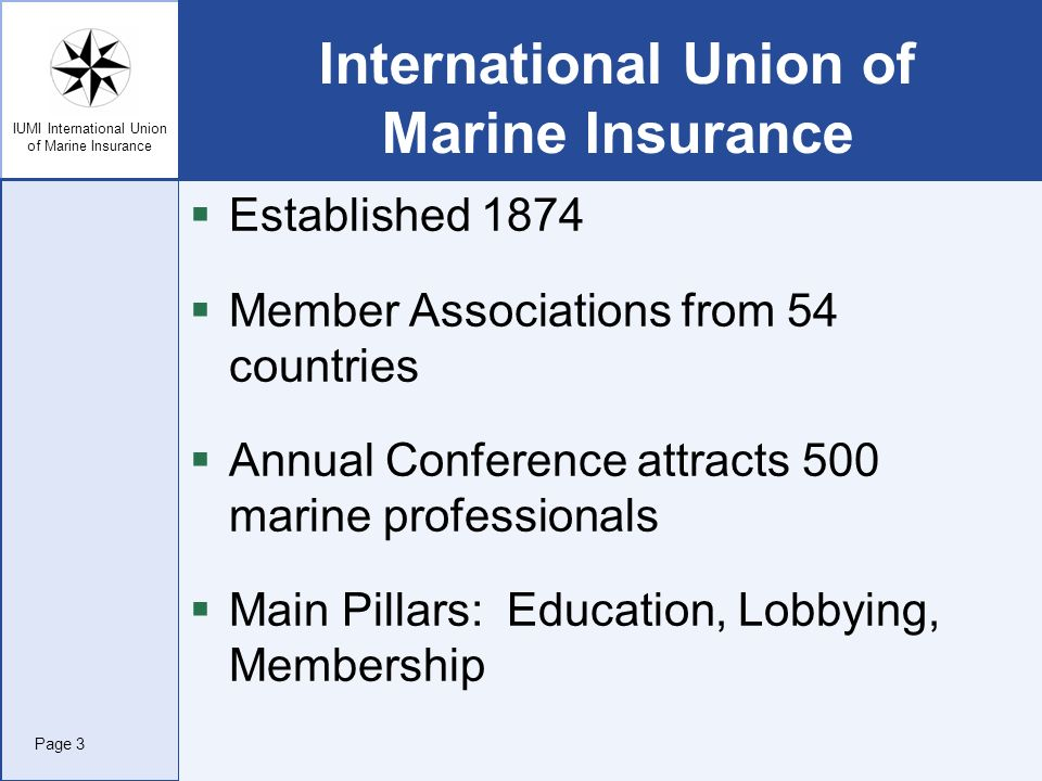 International Union of Marine Insurance