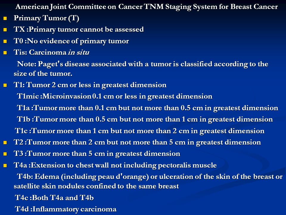 TX :Primary tumor cannot be assessed T0 :No evidence of primary tumor