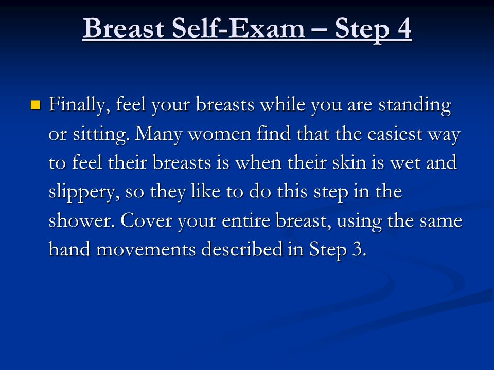 Breast Self-Exam – Step 4