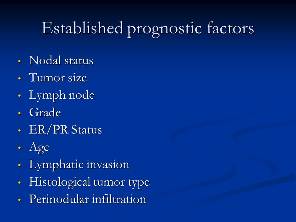 Established prognostic factors