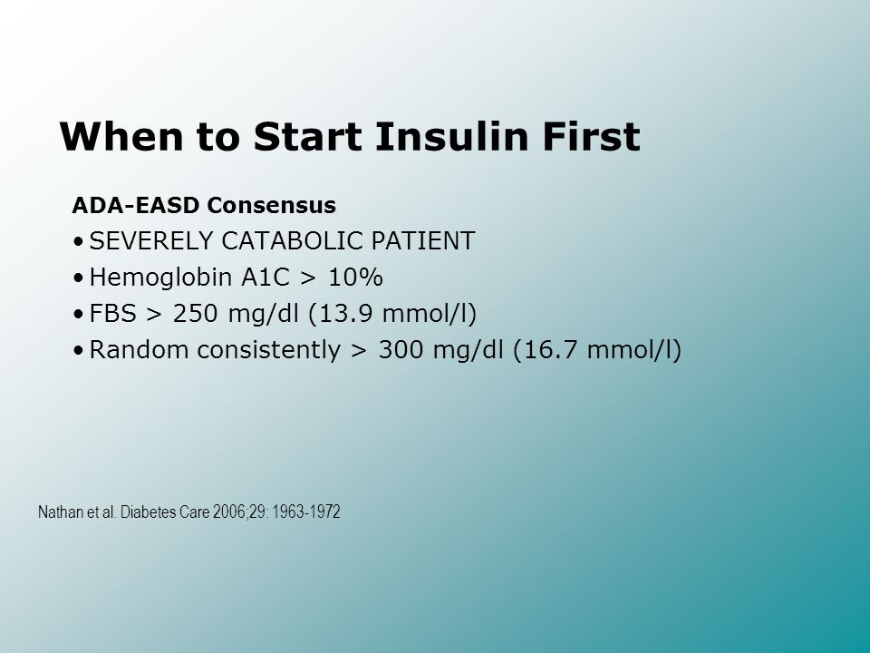 When to Start Insulin First