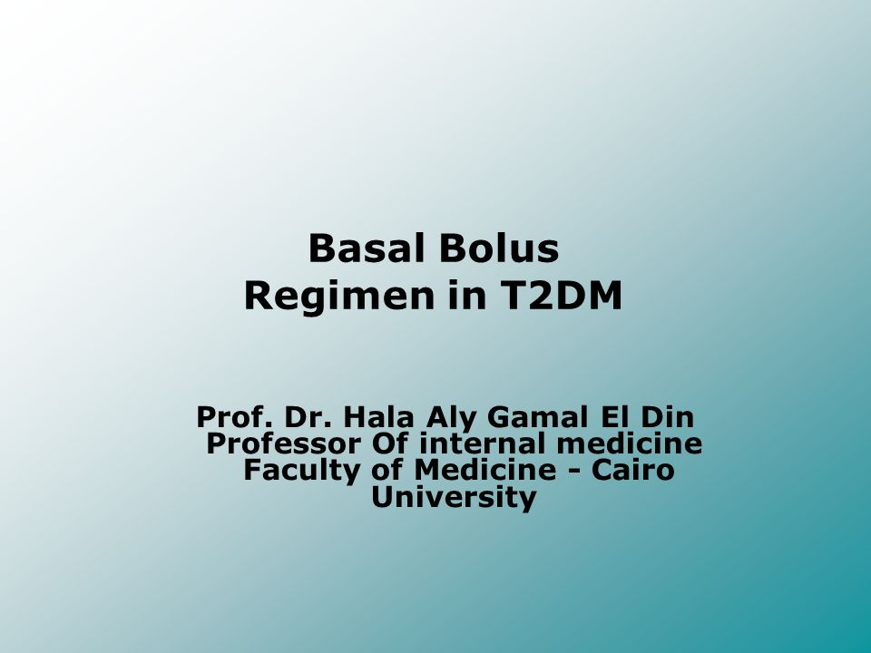 Basal Bolus Regimen in T2DM