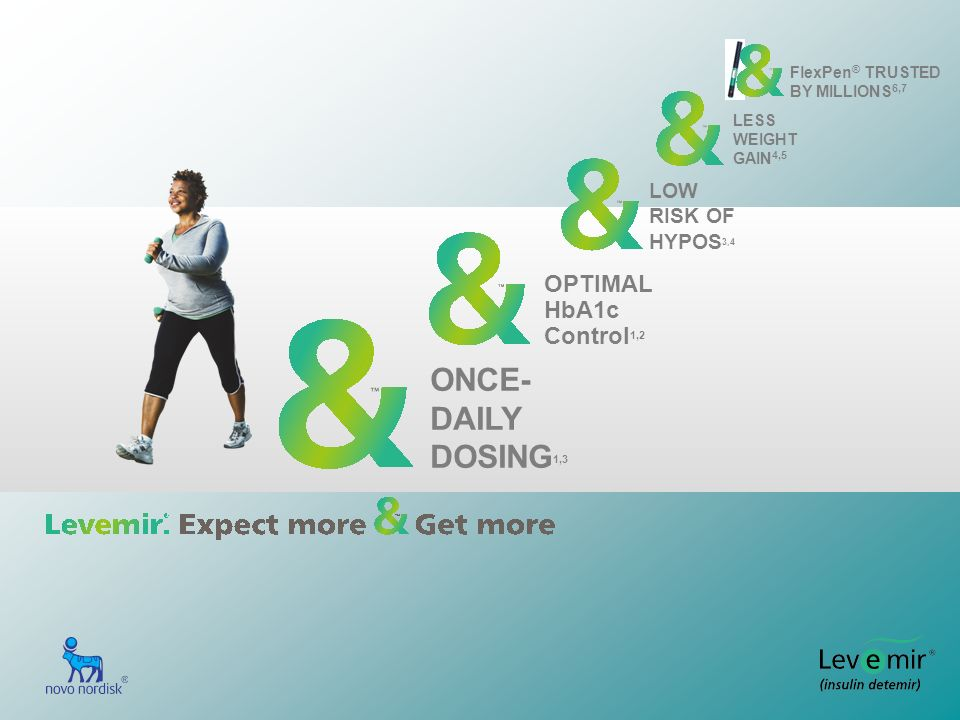 ONCE- DAILY DOSING1,3 OPTIMAL HbA1c Control1,2 LOW RISK OF HYPOS3,4