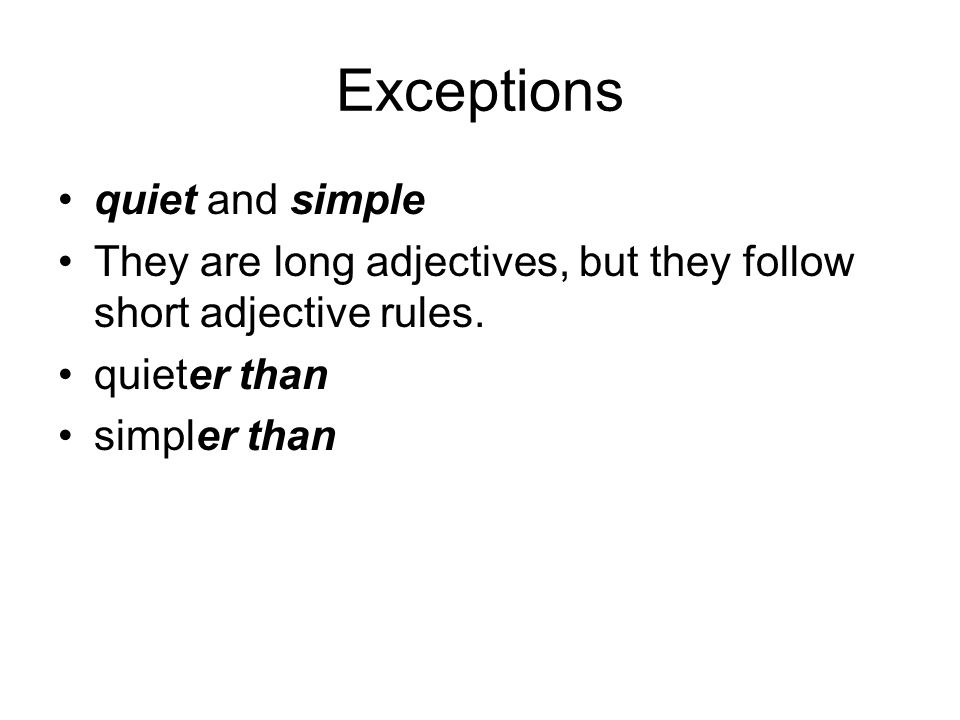 Exceptions quiet and simple