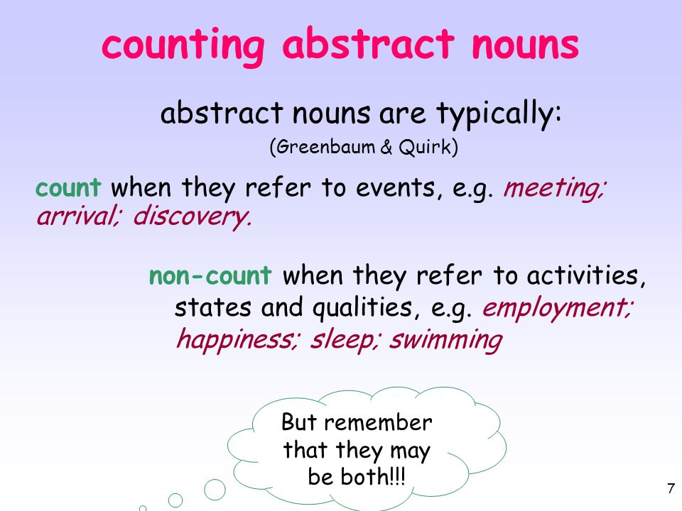 counting abstract nouns
