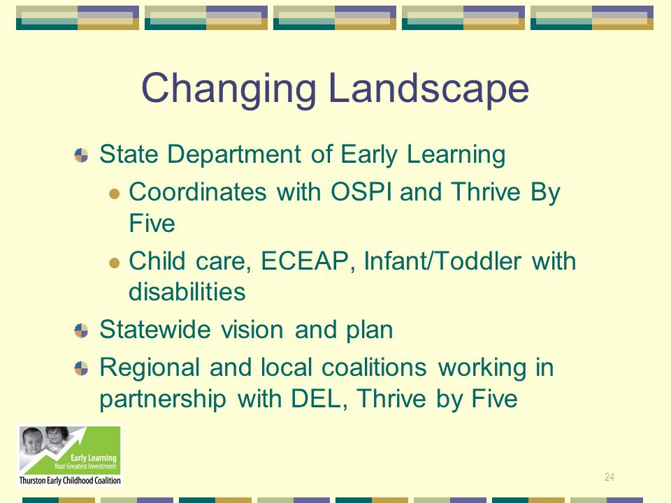 Changing Landscape State Department of Early Learning